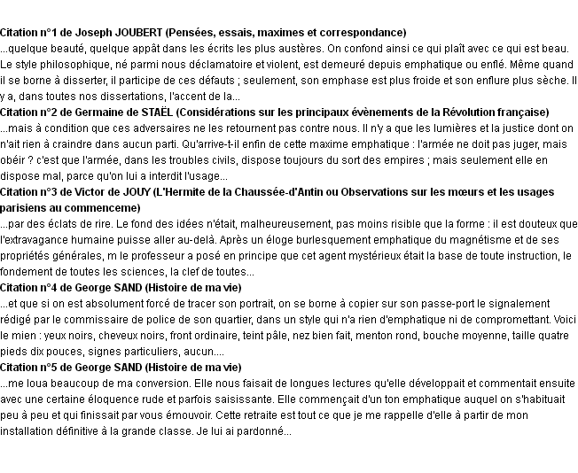 Citations emphatique