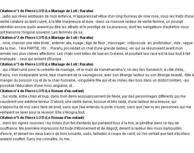 Citations laideur