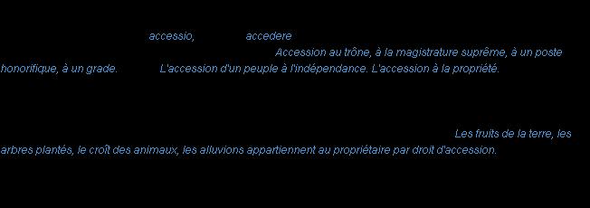Accession La Definition