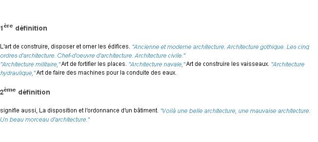 Architecture la d finition for Architecte definition du metier