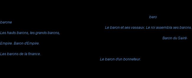 Définition baron ACAD 1986