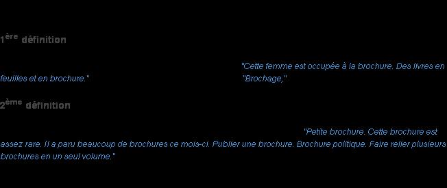 Brochure La Definition