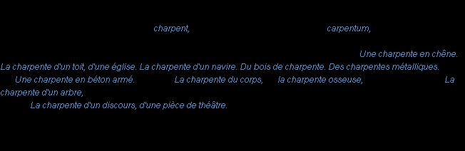 charpente synonyme