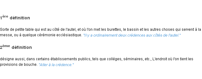 Cr dence la d finition - Credence definition ...
