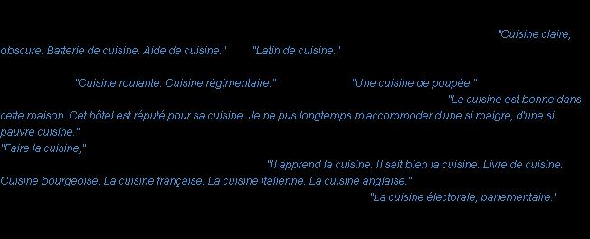 cuisine : la définition