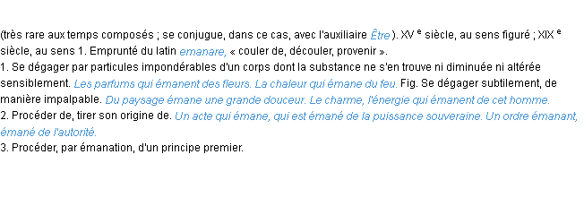 emane definition