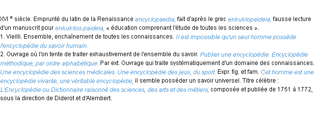 encyclopedie def