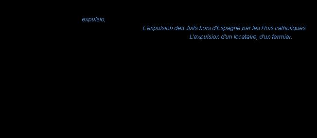 Définition Expulsion ACAD 1986