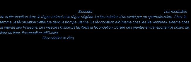définition de fécondation