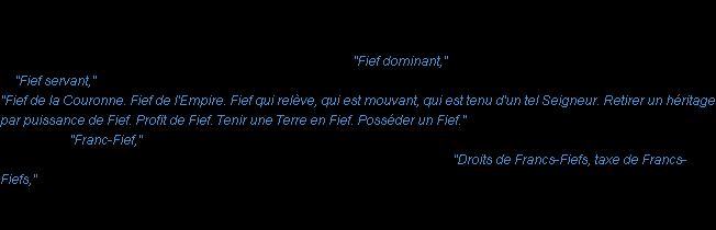 Définition Fief ACAD 1798