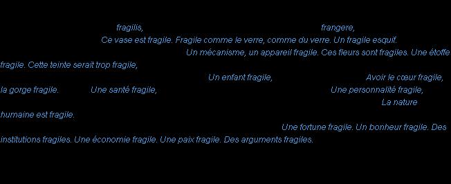 Beautiful Définition Fragile ACAD 1986