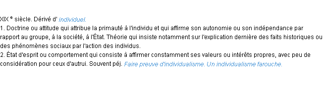 BSCPC-ces fonctions Definition-individualisme-acad1986