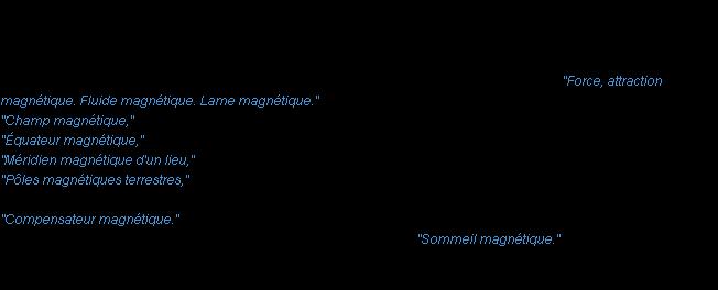 force magnétique aimant