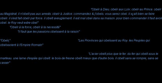 Obeir La Definition