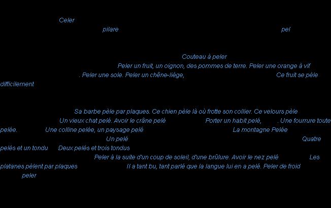 Peler La Definition