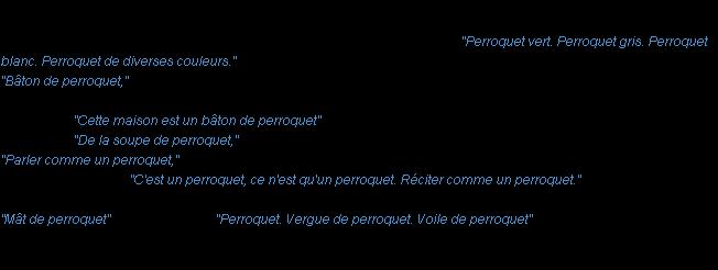 Perroquet la d finition - La boheme definition ...