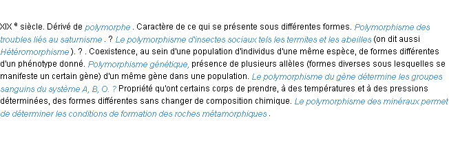 D�finition polymorphisme ACAD 1986