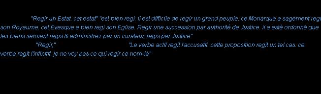 regir definition