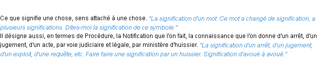 Définition signification ACAD 1932