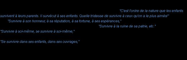 Survivre La Definition